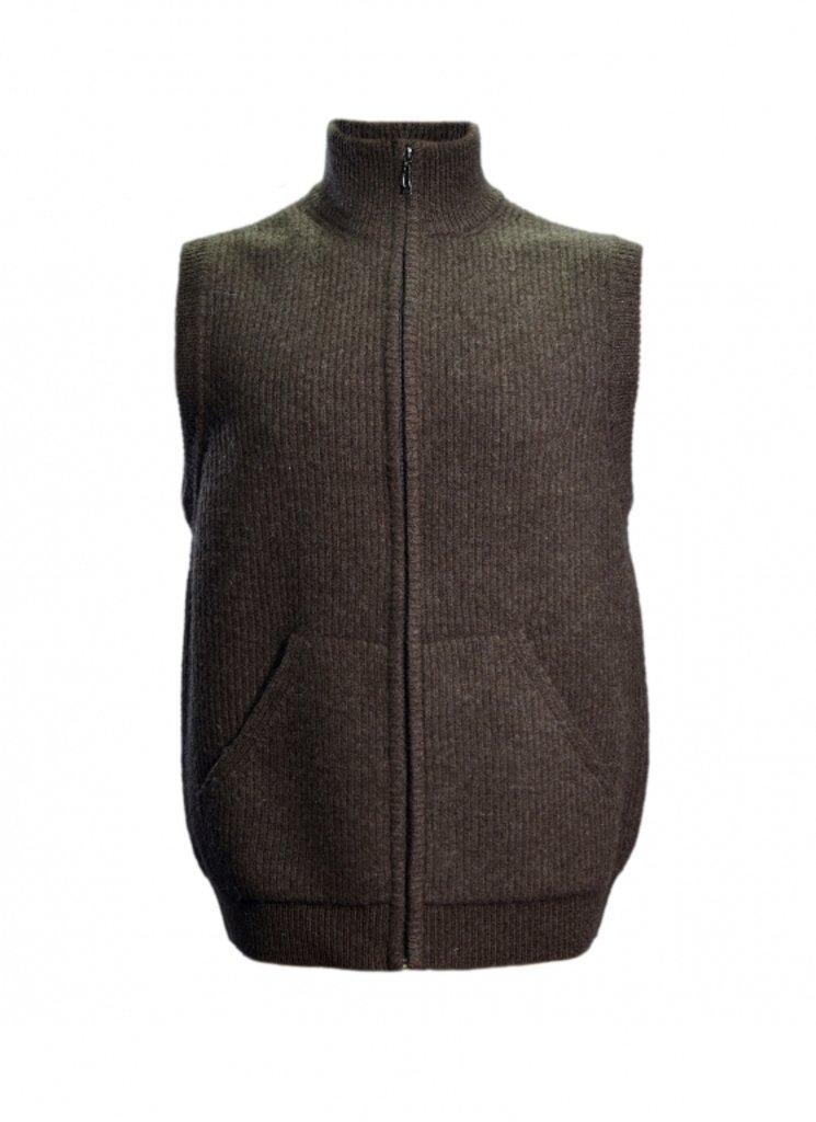 Женская одежда: Жилетка вязаная из шерсти яка на замке в Сельский магазин