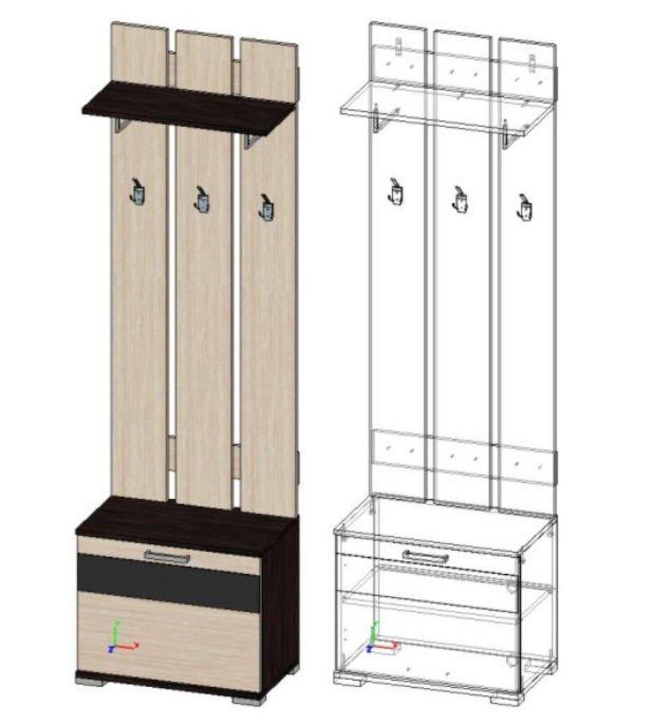 Мебель для прихожей Юнона-2: Вешалка с тумбой ВШТ-03 (Юнона-2) в Диван Плюс