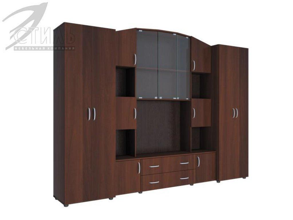 Гостиные: Мебель для гостиной Макарена - 8 (итальянский орех) в Диван Плюс