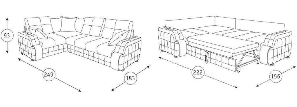 Диваны Николь: Угловой диван-книжка Николь ТД 834 в Диван Плюс
