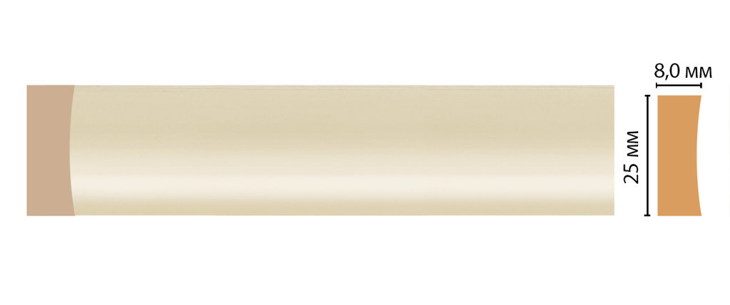 Молдинги: Цветной молдинг DECOMASTER D046-61 (25*8*2400) в Мир Потолков