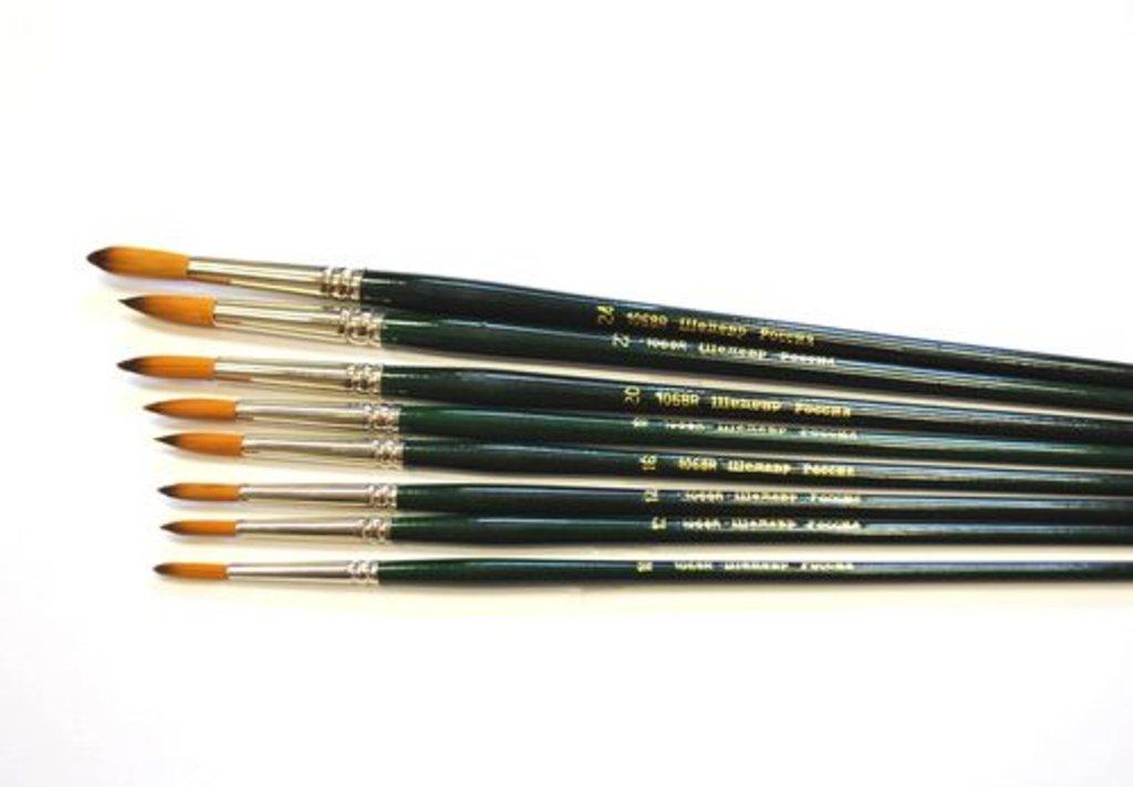 круглая: Кисть синтетическая круглая с длинной ручкой Шедевр №16    1068R в Шедевр, художественный салон
