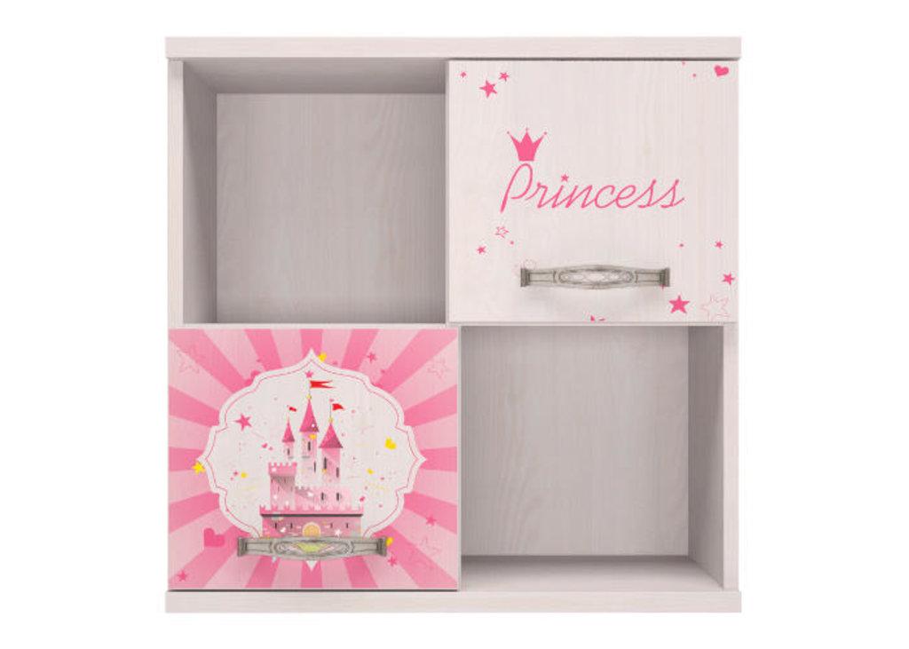 Полки детские: Секция навесная 10 Принцесса в Стильная мебель