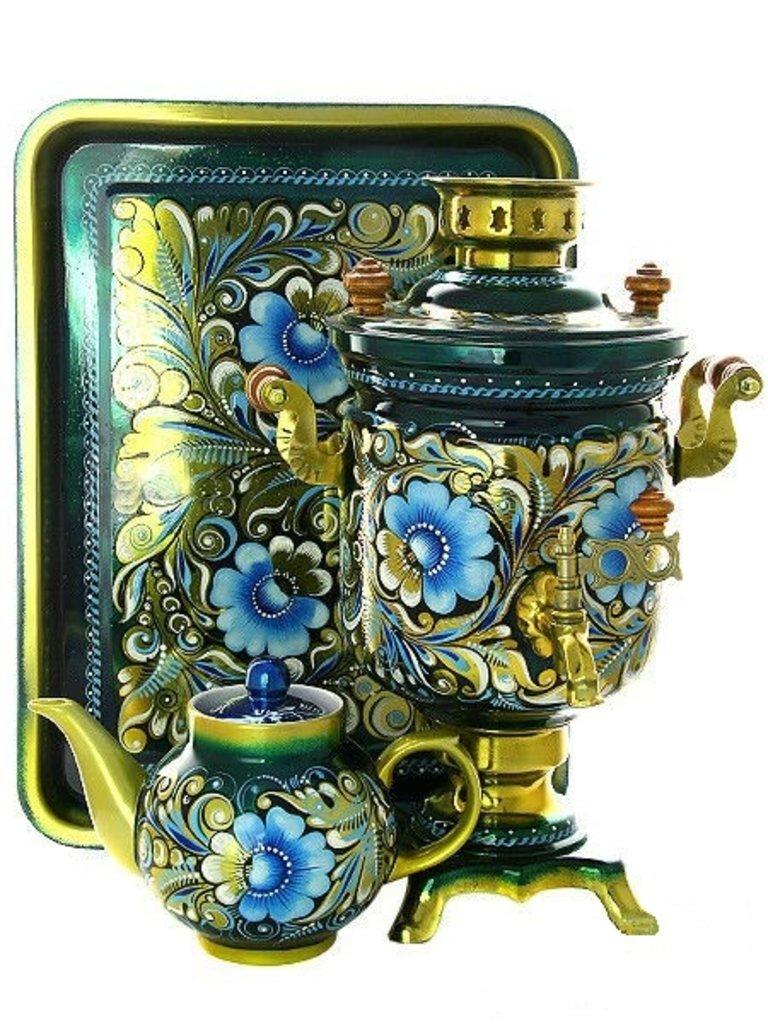Самовары: Набор самовар электрический 3 л. с художественной росписью в Сельский магазин