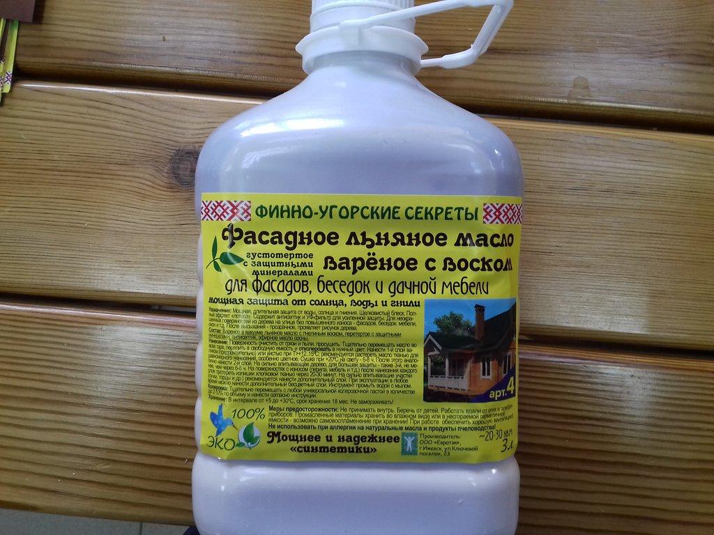 Крепеж, утеплитель, обработка, прочее: Льняное масло №4 фасадное с воском в Погонаж