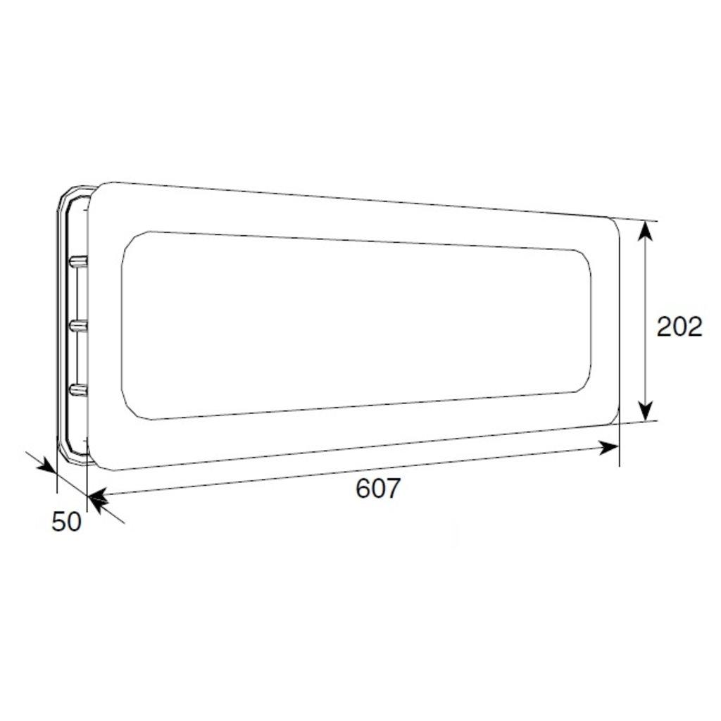 Окна для секционных ворот: Окно акриловое 607*202 Doorhan в АБ ГРУПП