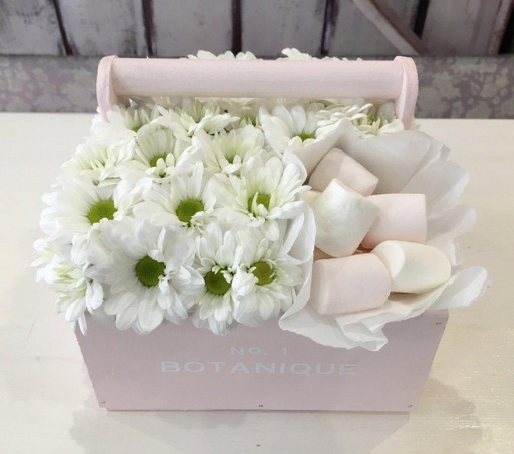 """Botanique CANDY: """"Botanique candy""""🍬 Цветы+сладости (Ромашки+Зефирки) в Botanique №1,ЭКСКЛЮЗИВНЫЕ БУКЕТЫ"""