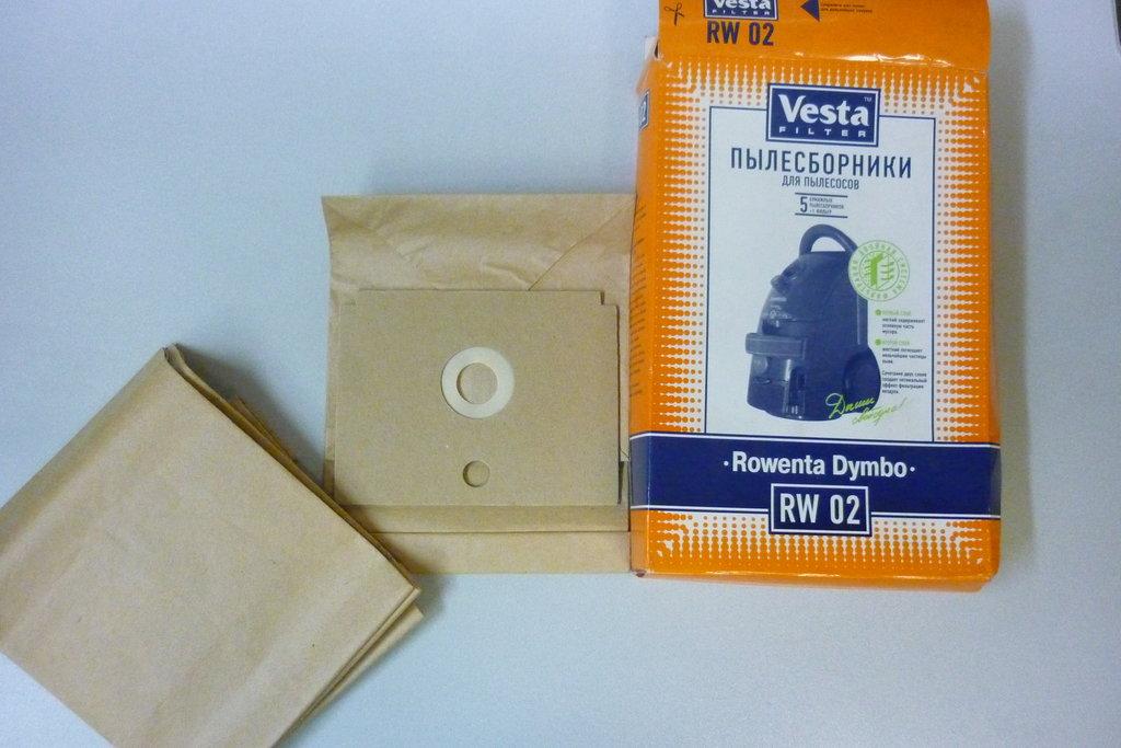 Запчасти для пылесосов: Пылесборники (бумажные мешки) для пылесосов Rowenta Dymbo (Ровента Дымбо) RW02 в АНС ПРОЕКТ, ООО, Сервисный центр