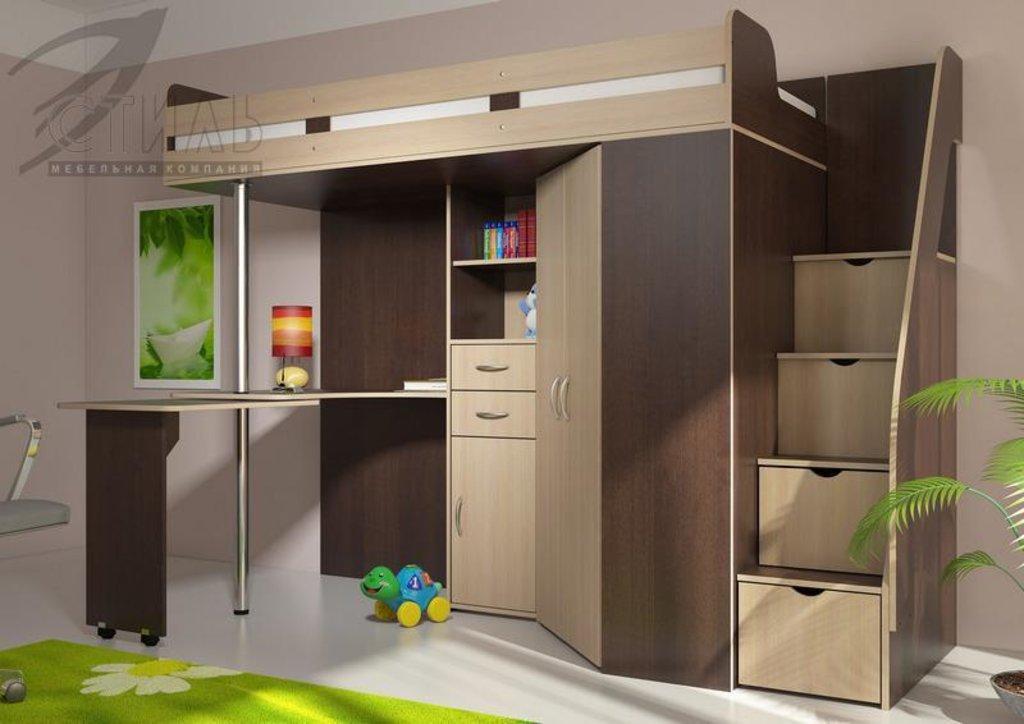 Детские: Кровать-чердак Мийа (венге) в Диван Плюс