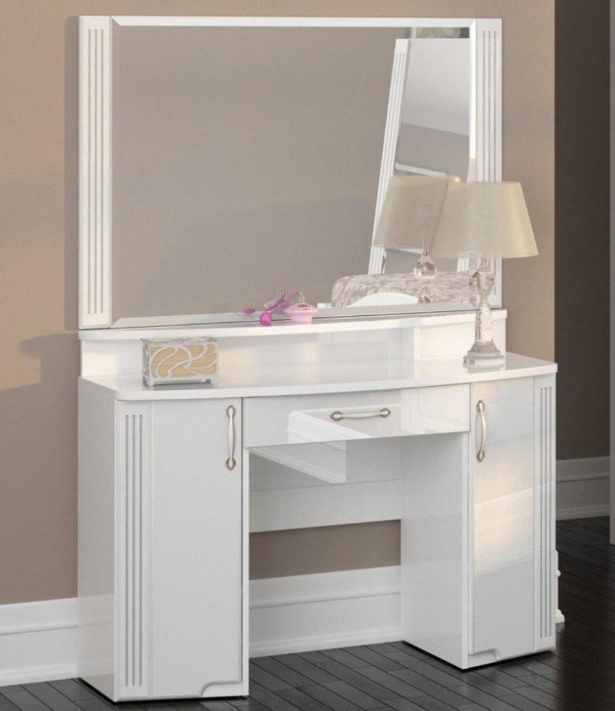 Туалетные столики и консоли: Стол туалетный (06) Виктория (полки и зеркало отдельно) в Стильная мебель