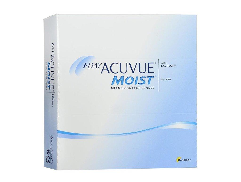 Контактные линзы: Контактные линзы 1-Day Acuvue Moist (90шт / 9.0) Johnson & Johnson в Лорнет