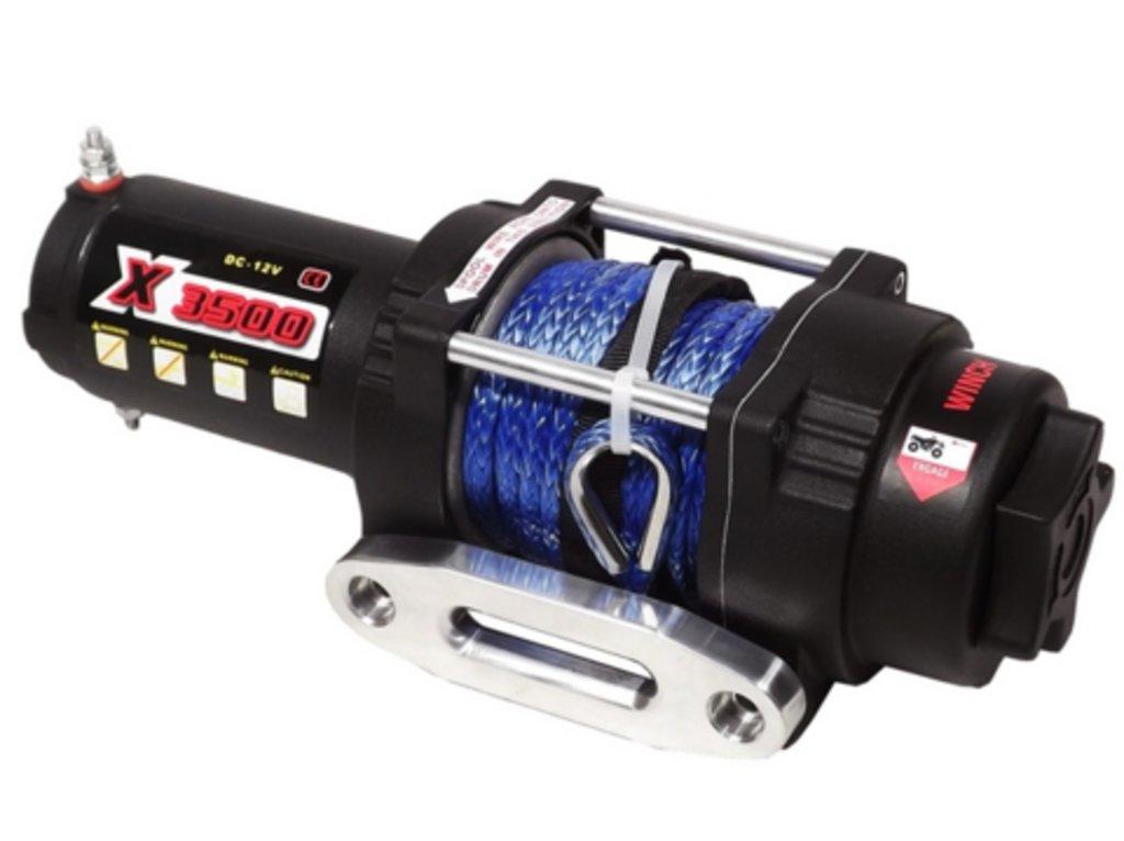 Дополнительное оборудование для квадроциклов: Лебедка для квадроцикла электрическая с синтетическим тросом MWX3500S-12V, MWX3500S-12V в Базис72