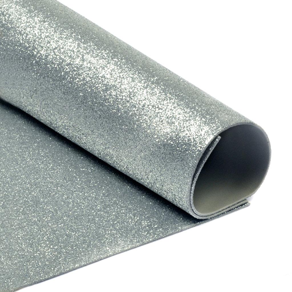 Фоамиран: Фоамиран глиттерный 2мм 20*30см серебро, 1 лист в Шедевр, художественный салон