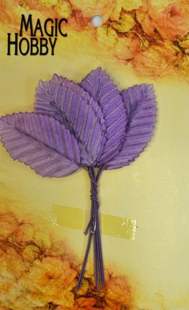 Скрапбукинг: Листочки декоративные Magic Hobby TBY-L8 уп/10шт фиолетовый в Шедевр, художественный салон
