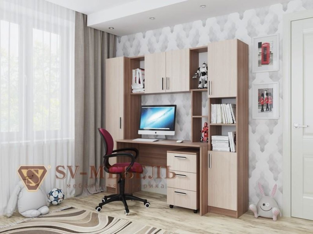 Стол компьютерный №7. Компоненты товара: Надстройка - Стол компьютерный №7 в Диван Плюс