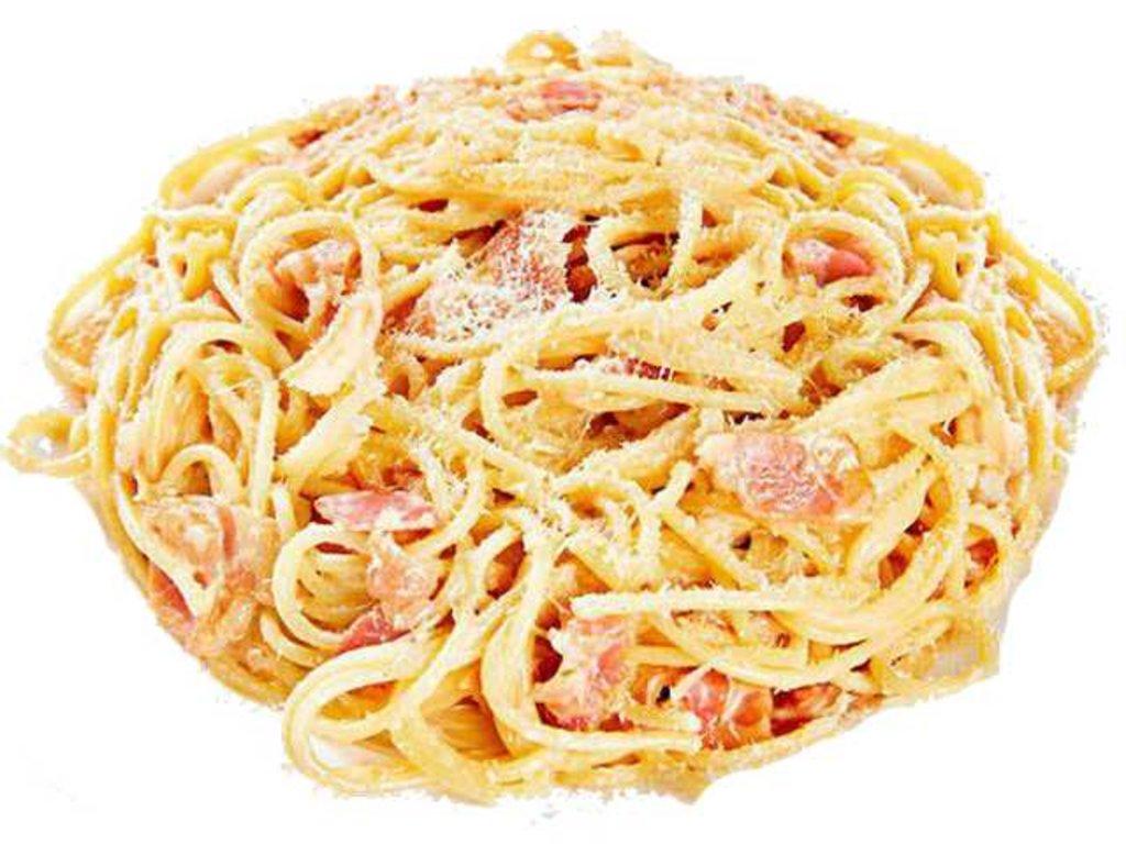 Горячие блюда: Карбонара в СУШИ БАНДА