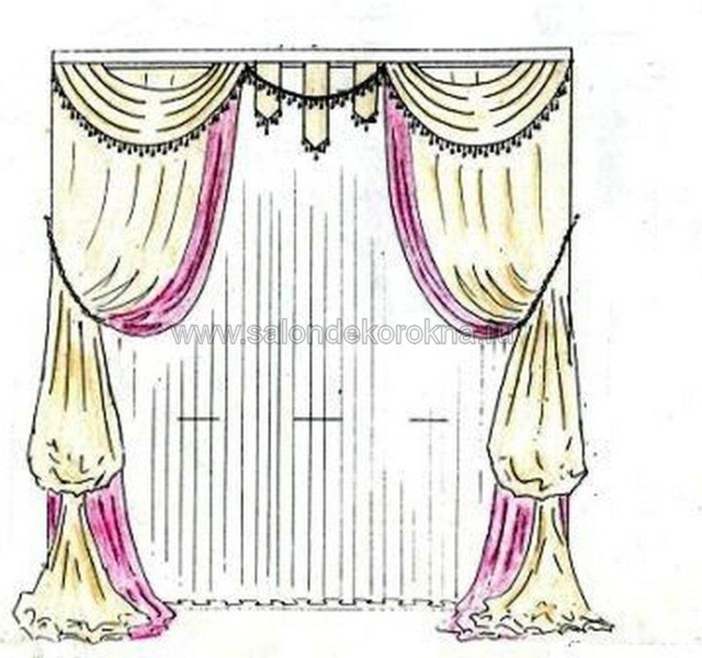 Шторы, портьеры: Шторы от эскиза до воплощения в Декор окна, салон