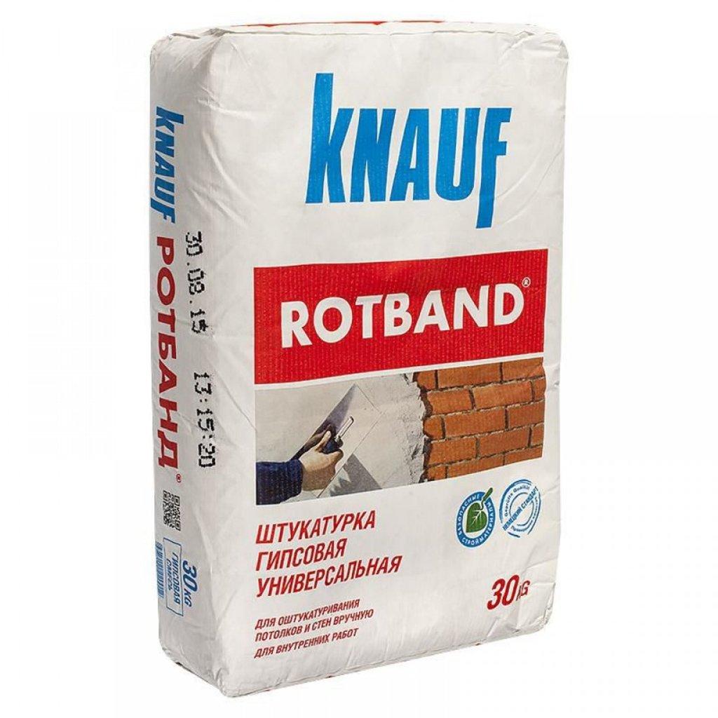 Штукатурка: Штукатурка KNAUF-Ротбанд белый 30кг в АНЧАР,  строительные материалы