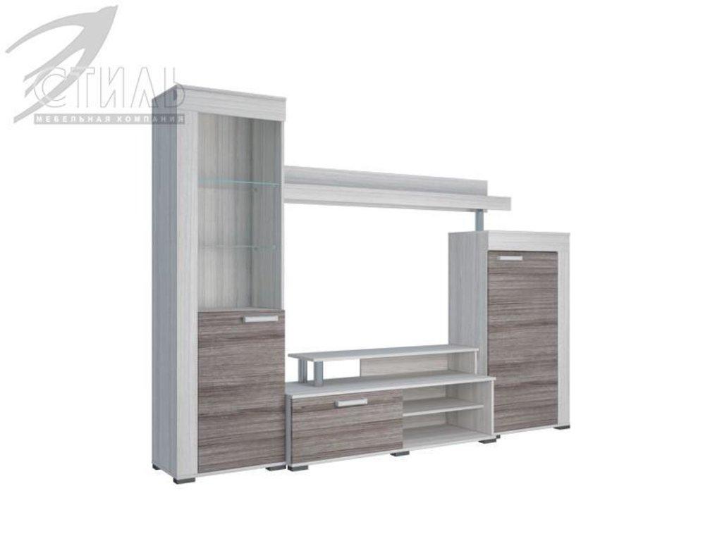 Гостиные: Мебель для гостиной Соло - 9А (шимо светлый, шимо темный) в Диван Плюс