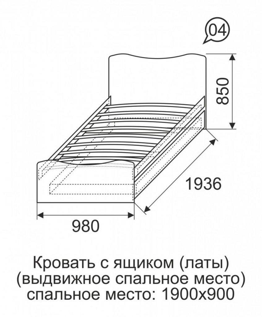 Детские и подростковые кровати: Кровать с ящиком (выдвижное спальное место) 04 Принцесса (90х190, усилен. настил) в Стильная мебель