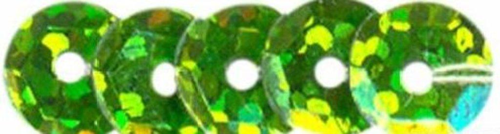 Граненые 6мм.: Пайетки граненые 6мм.,упак/10гр.Астра(цвет:501045 св.зеленый голограмма) в Редиант-НК