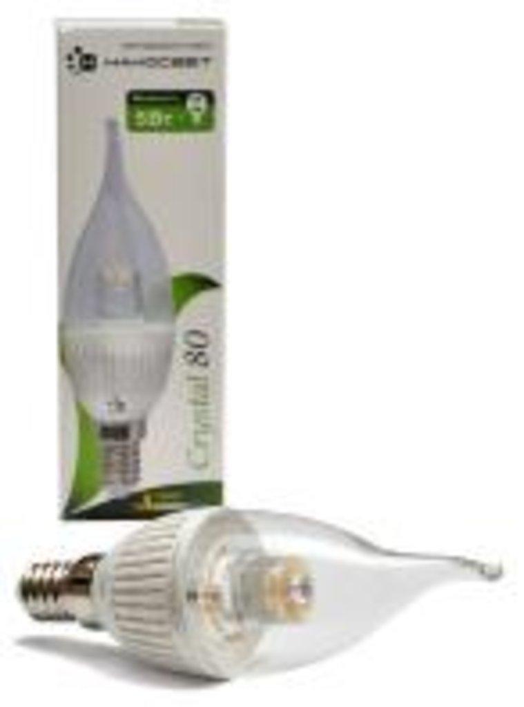 Светодиодные лампы: LC-5CDTCL-E14-3 Crystal 80 Лампа светодиодная Свеча на ветру (LED) НАНОСВЕT в Электрика