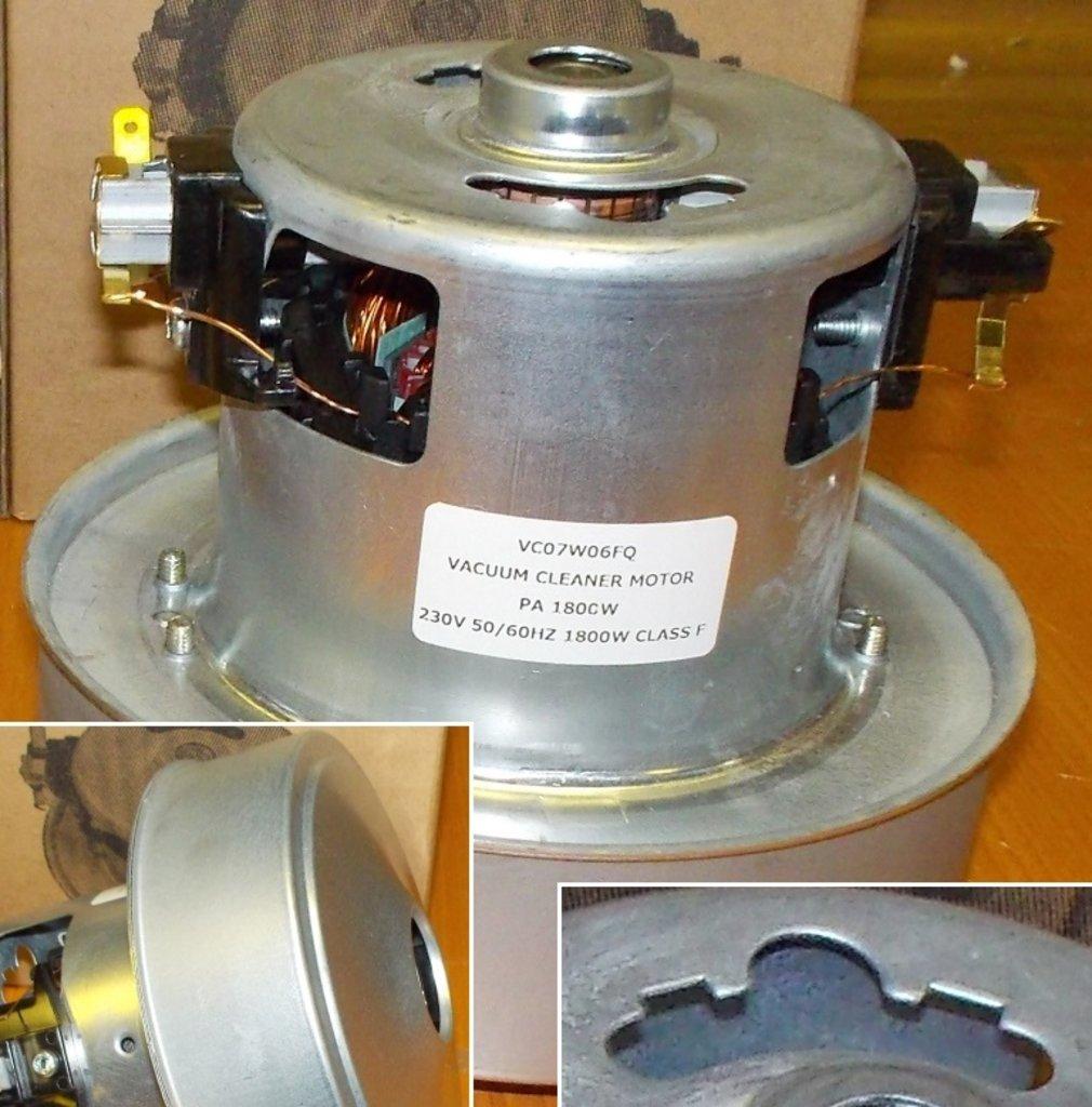 Запчасти для пылесосов: Мотор (двигатель) пылесоса 1800W, H=118mm, D130mm, PA1800W, HX-180, 11me68, VC0706FQW в АНС ПРОЕКТ, ООО, Сервисный центр