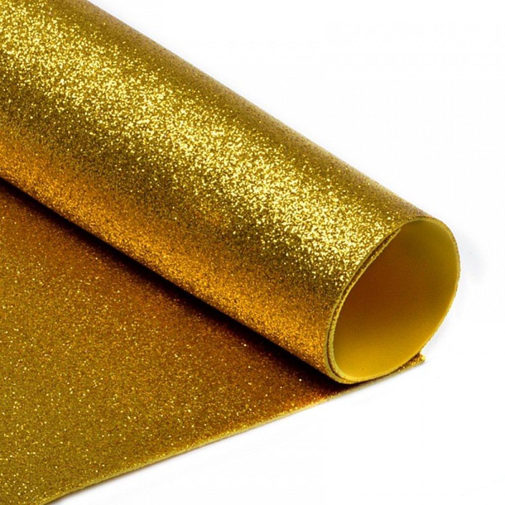 Фоамиран: Фоамиран глиттерный 2мм 20*30см золото, 1 лист в Шедевр, художественный салон