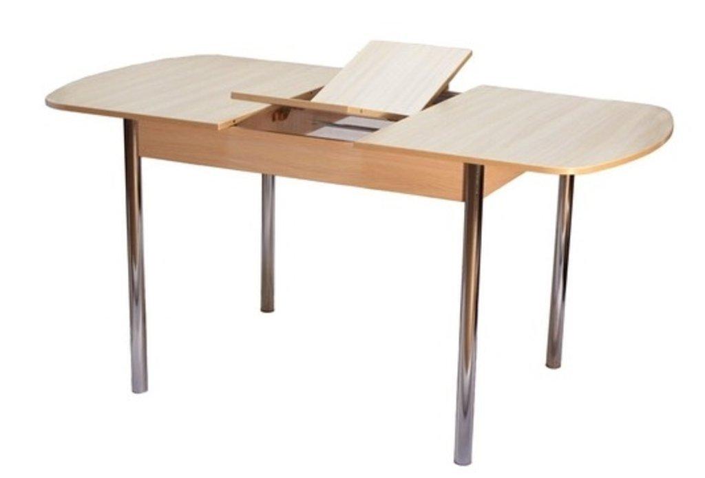 Обеденные группы.: Стол ПГ-14 раздвижной + стулья Ромашка (хром) в АРТ-МЕБЕЛЬ НН