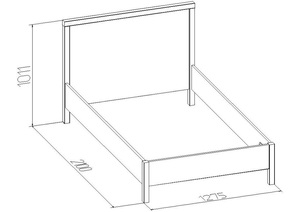Кровати: Кровать BAUHAUS 4 (1200, орт. осн. дерево) в Стильная мебель