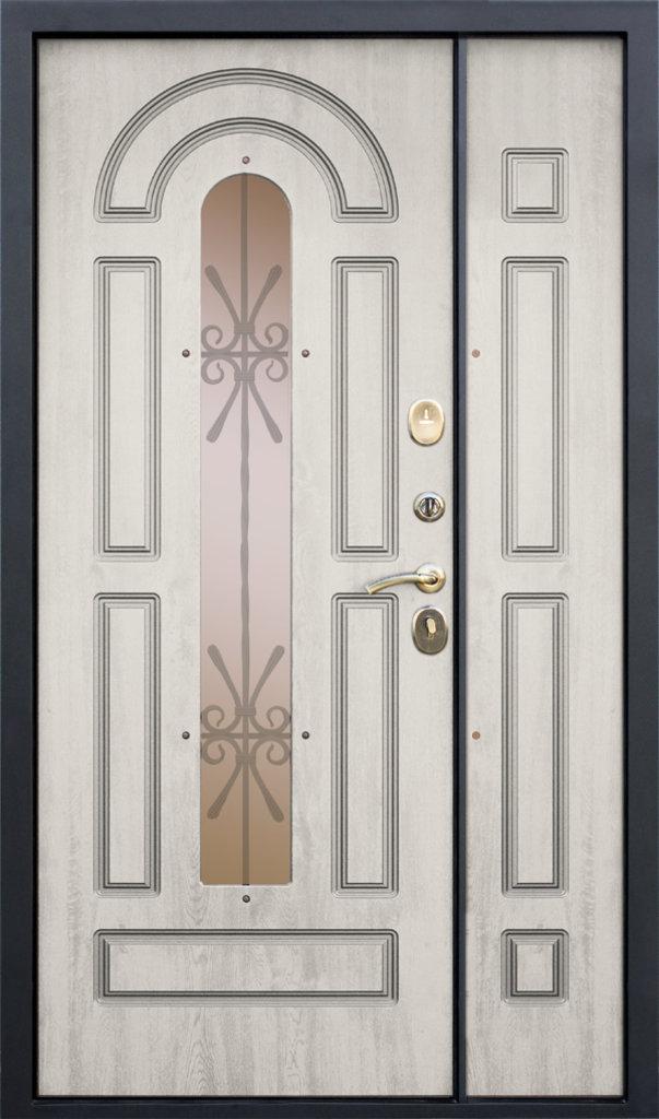 Входные двери (элит) от 110-130мм: Входная дверь  VIKONT 1200мм в Пластиковые окна в Сургуте STEKLOMASTER
