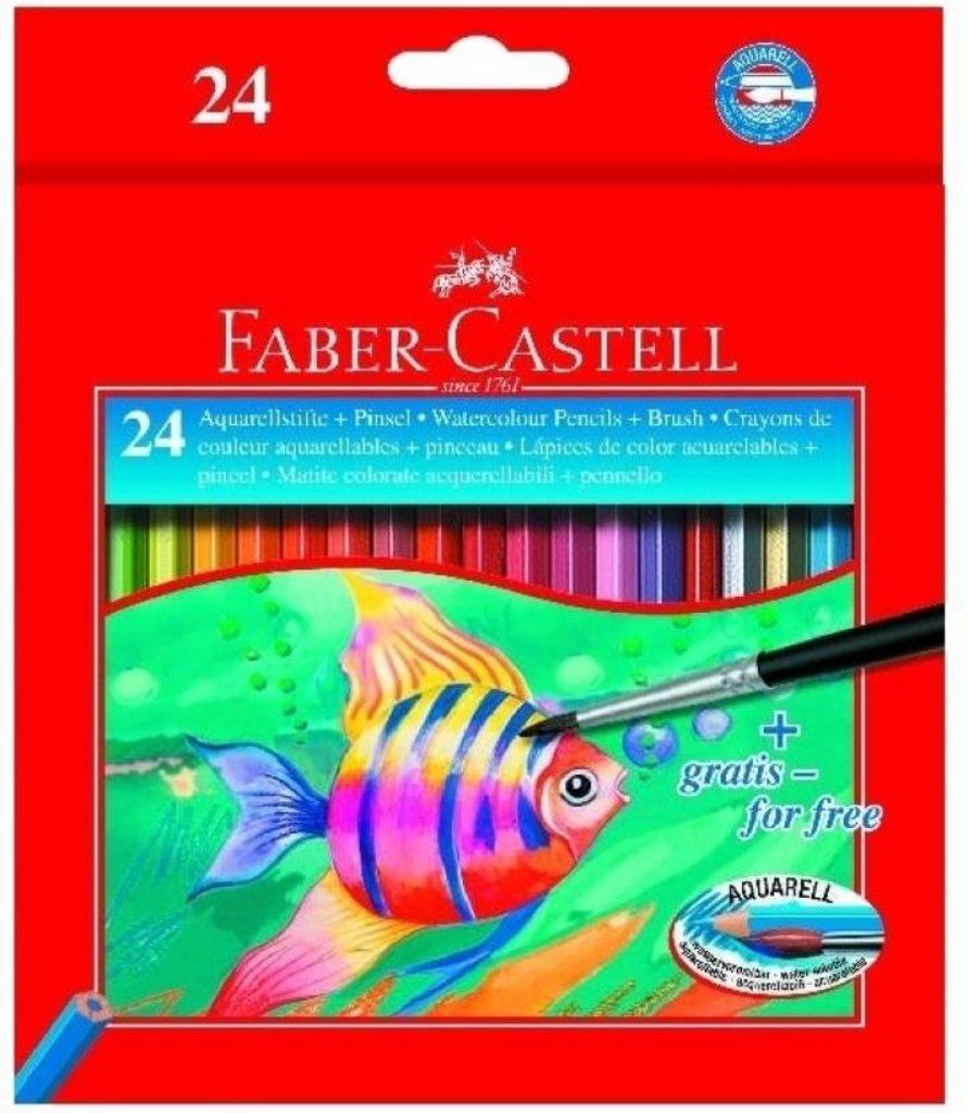 Акварельные карандаши: Набор акварельных карандашей  Faber-Castell Color Pencils с кисточкой 24цв. в Шедевр, художественный салон