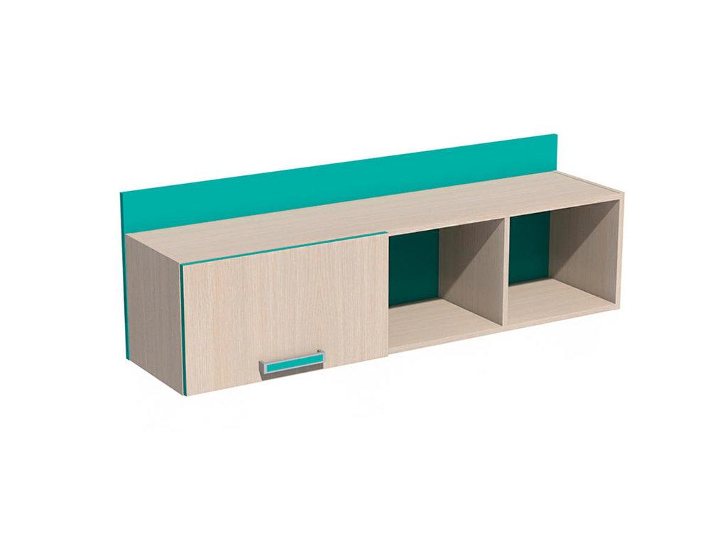 Полки детские: Полка с дверкой НМ 011.38-01 Рико в Стильная мебель