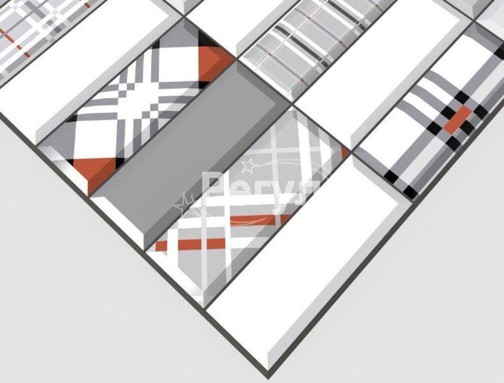 Панели ПВХ: Плитка Импровизация красная в Мир Потолков