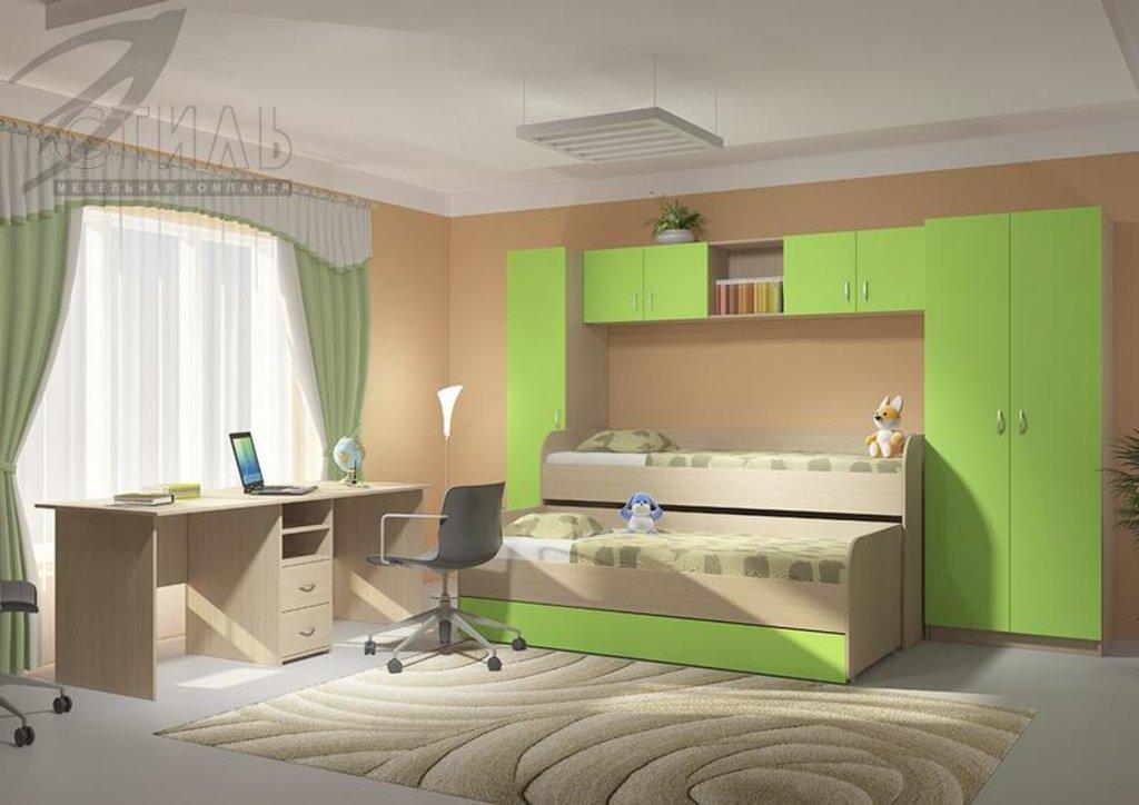 Мебель для детской Мийа - 2 (зеленый): Шкаф двухстворчатый Мийа - 2 (зеленый) в Диван Плюс