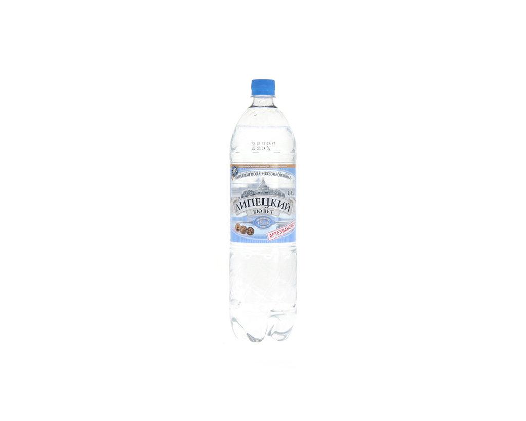 Вода 0,5 - 1,5 л: ЛИПЕЦКИЙ БЮВЕТ 1,5 негазированная в ТСК+, ООО