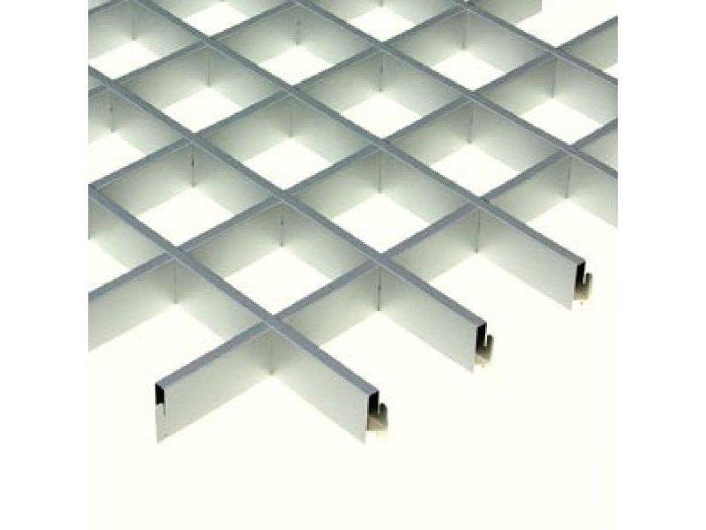 Потолки грильято: Потолок грильято 120х120 ( выс.40/шир.10) Эконом металлик А907 rus(Албес) в Мир Потолков