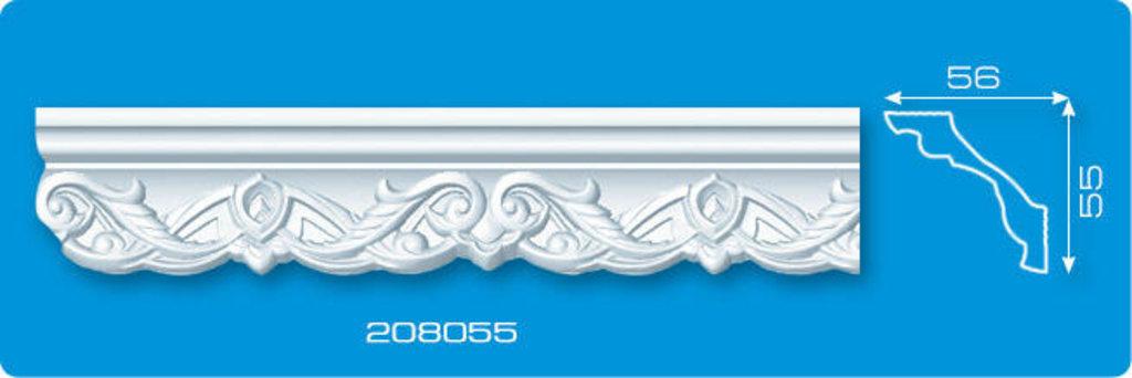 Плинтуса потолочные: Плинтус потолочный ФОРМАТ 208055 инжекционный длина 2м в Мир Потолков