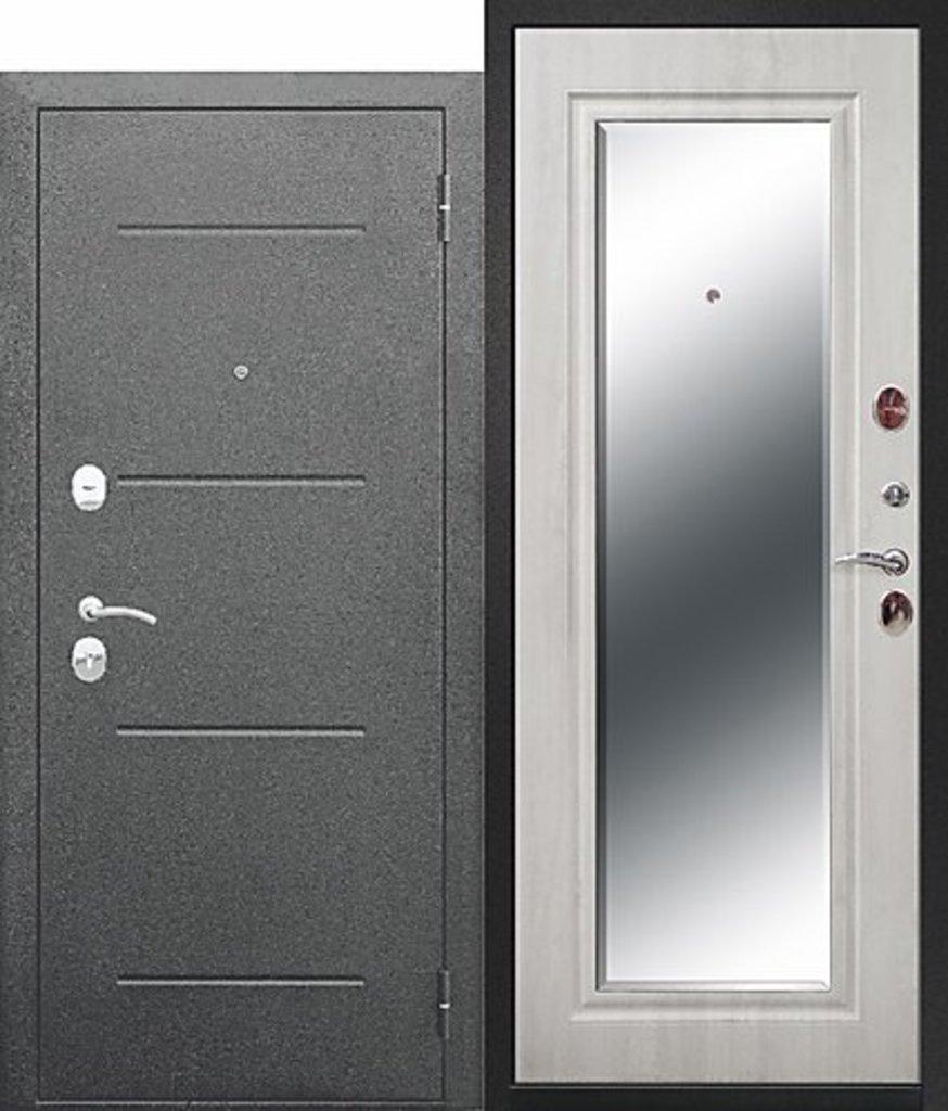 Входные двери (бюджет) от 70-80мм: 7,5 см GARDA Серебро Зеркало Фацет в Пластиковые окна в Сургуте STEKLOMASTER