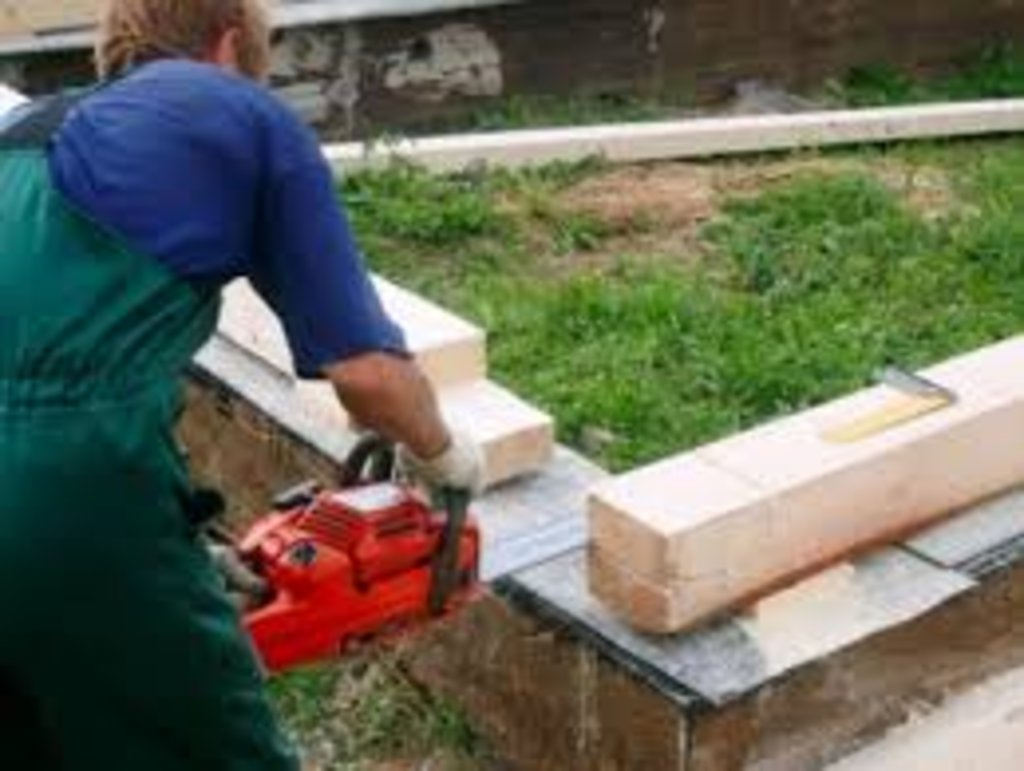 Работы по брусу: Укладка бруса в А-Строй