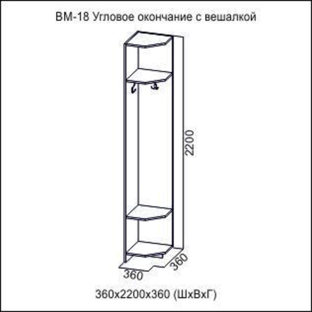 Мебель для прихожей Вега: Угловое окончание (с вешалкой) ВМ-18 Вега в Диван Плюс