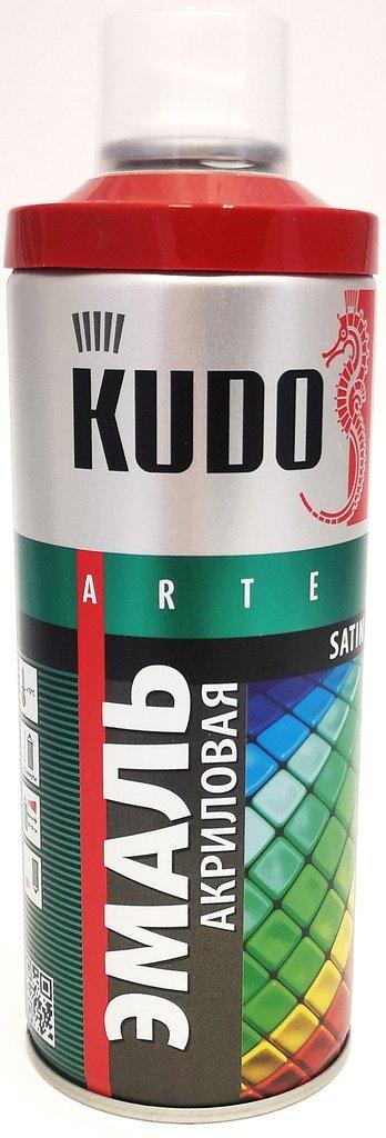 Универсальные: Краска-спрей акриловая KUDO огненно-красная RAL 3000 в Шедевр, художественный салон