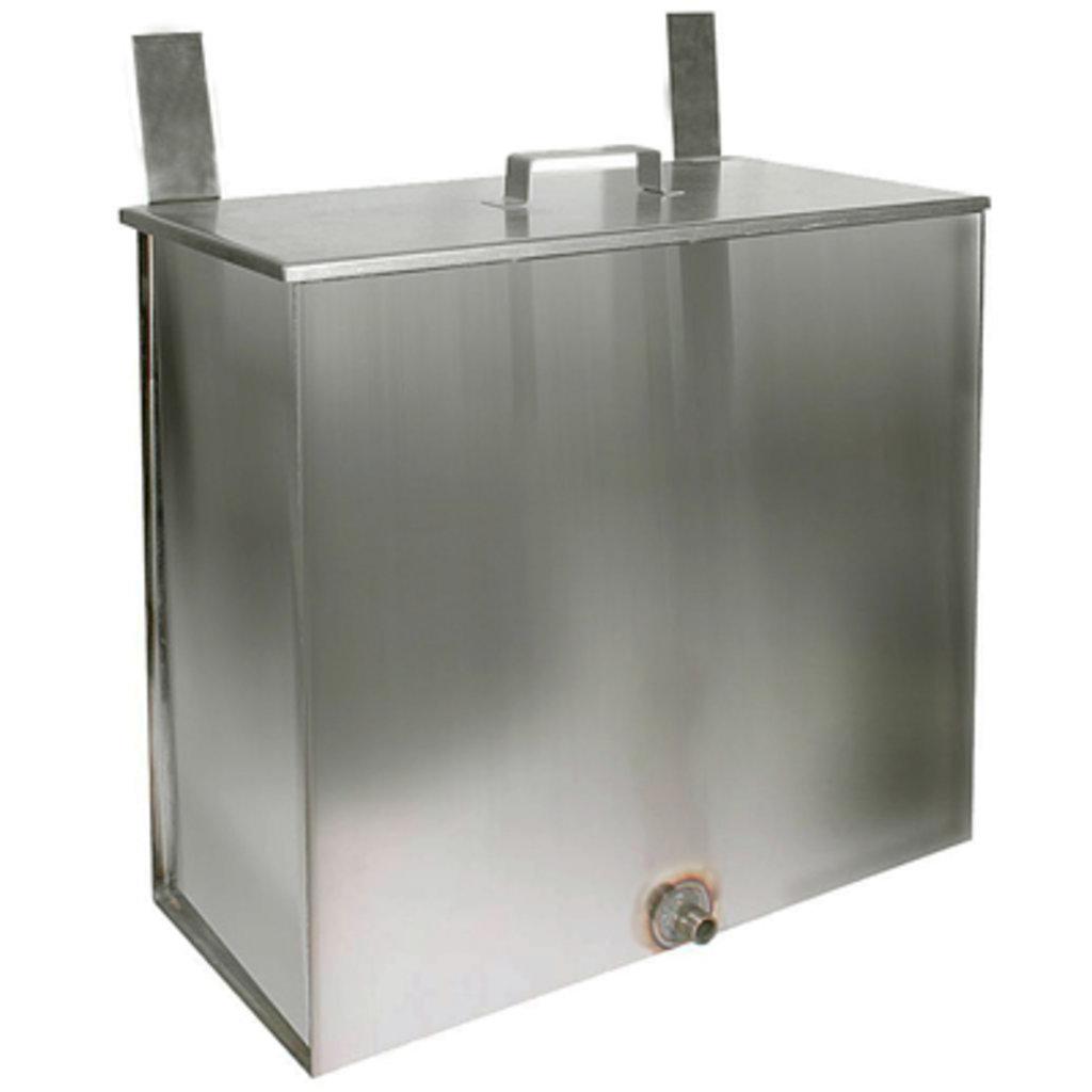 Печи и дымоходы: Бак Феррум Комфорт навесной 60 л нержавеющий (AISI 201/1,0 мм) прямоугольный в Погонаж