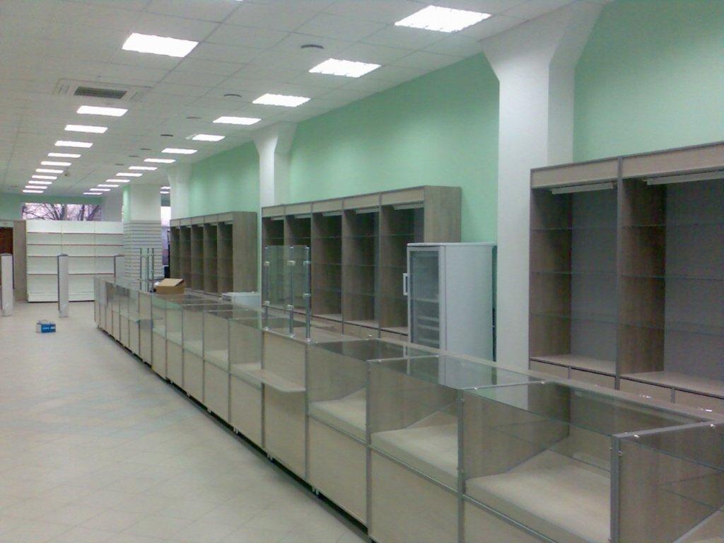 Мебель для аптеки: Мебель для аптек длинная в Студия Мебели