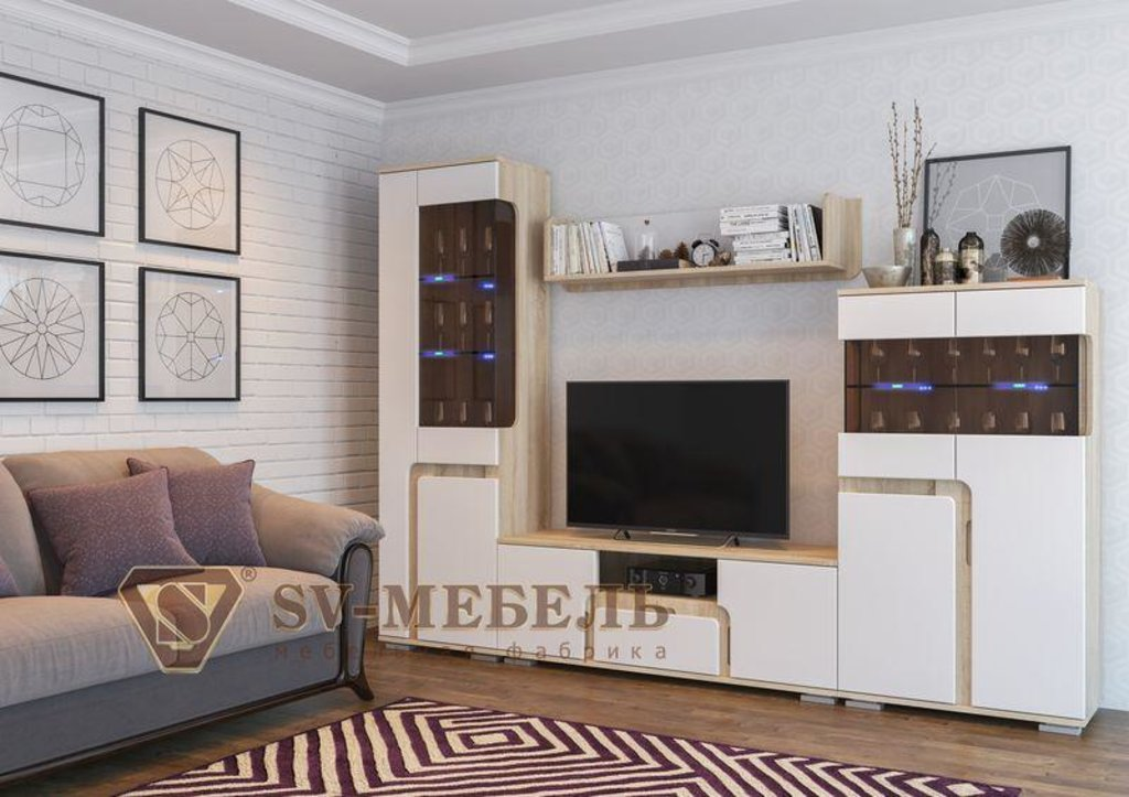 Мебель для гостиной Нота-25: Витрина малая Нота-25 в Диван Плюс