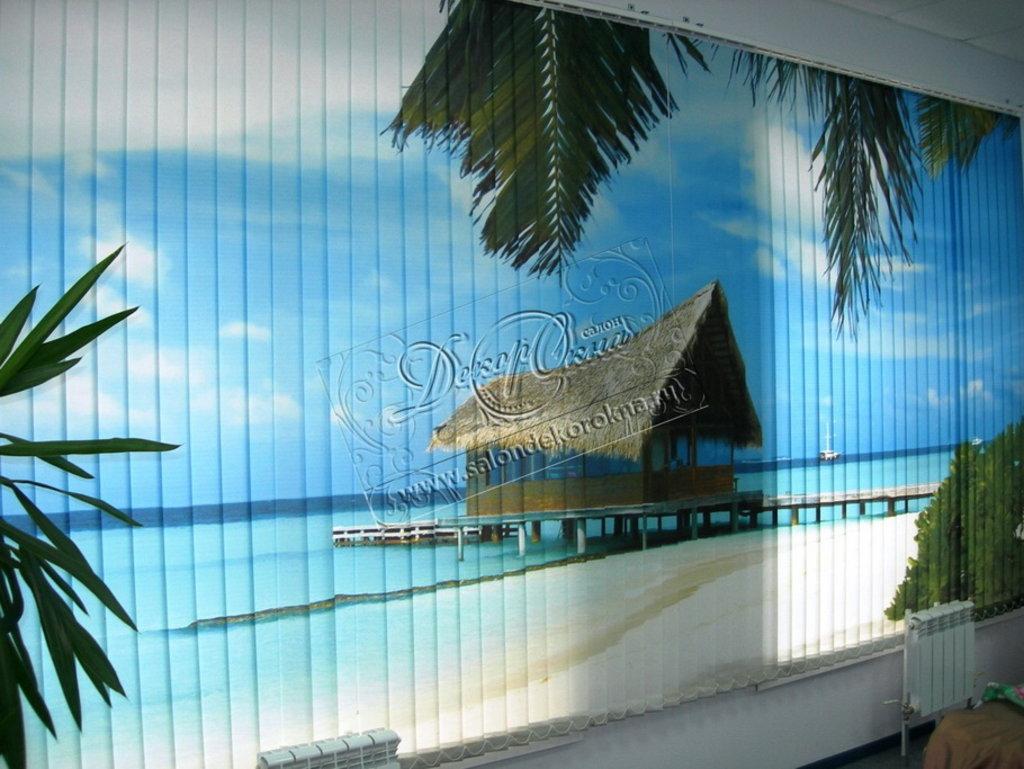 Жалюзи для окон: Жалюзи вертикальные с фотопечатью в Декор окна, салон