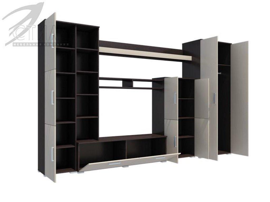 Гостиные: Мебель для гостиной Атлантида-5 (венге / дуб молочный) в Диван Плюс