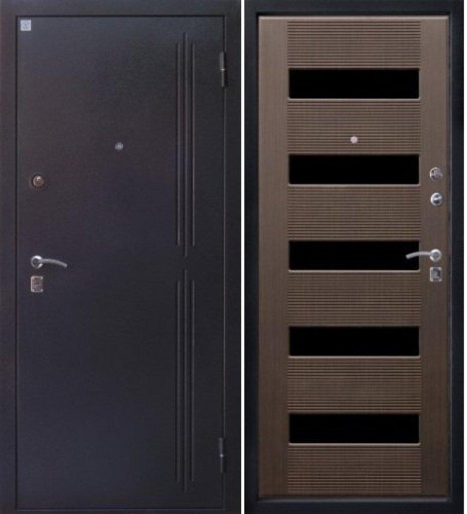 Входные двери Алмаз: Рубин-2, Тиковое дерево в Модуль Плюс