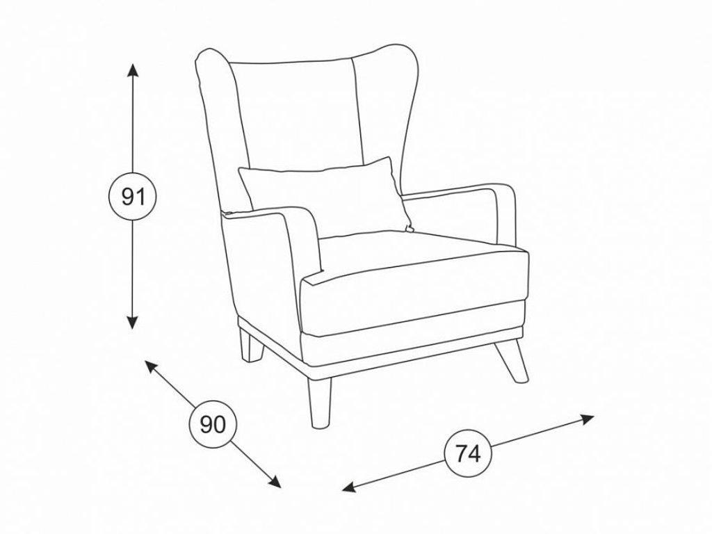 Кресла Оскар: Кресло Оскар ТК 305/1 в Диван Плюс