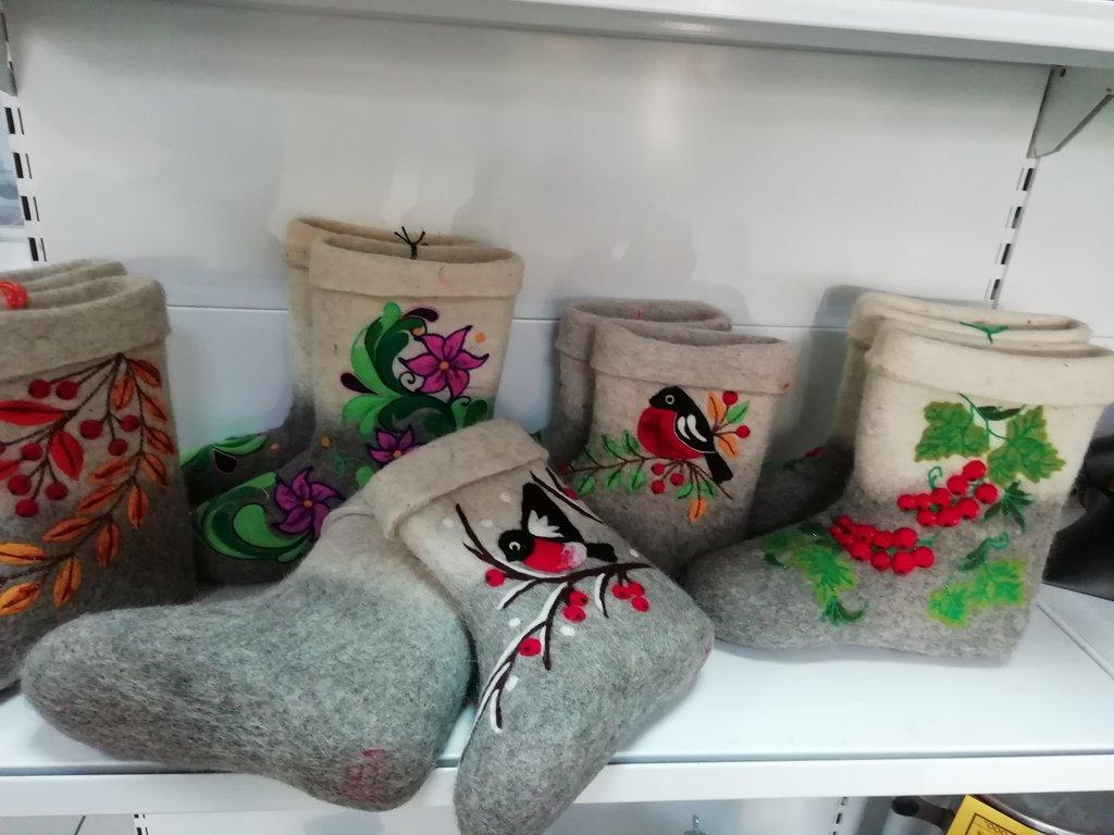 Унты, валенки, сапоги, чуни женские: Полуваленки женские комбинированные с рисунком в Сельский магазин